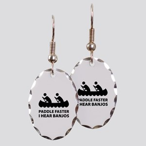 Paddle Faster Earring Oval Charm