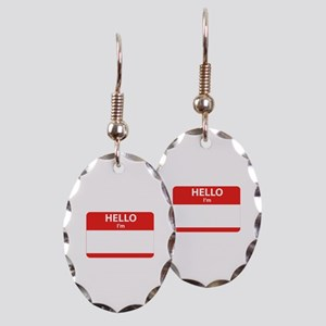 Hello I'm ... Earring Oval Charm