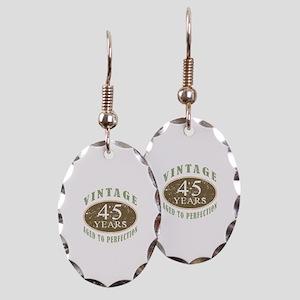 Vintage 45th Birthday Earring Oval Charm