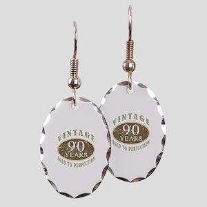 Vintage 90th Birthday Earring Oval Charm