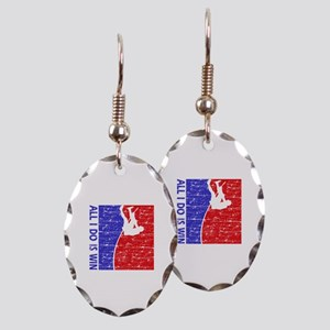 All I do is win Pole Vault designs Earring Oval Ch
