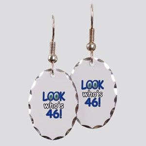Look who's 46 Earring Oval Charm