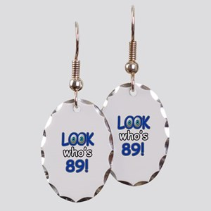 Look who's 89 Earring Oval Charm