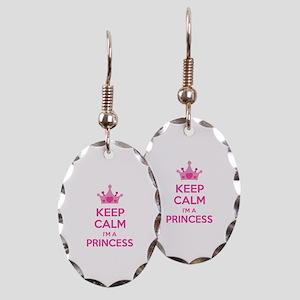 Keep calm I'm a princess Earring Oval Charm