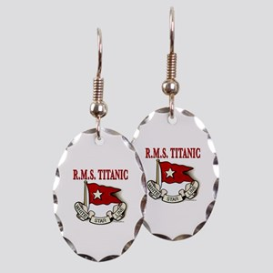 White Star Line: RMS Titanic Earring Oval Charm