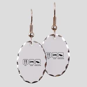 Eat Sleep Bobsledge Earring Oval Charm