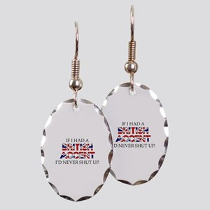 If I Had A British Accent Earring Oval Charm