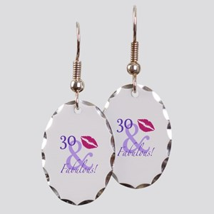 30 And Fabulous! Earring Oval Charm