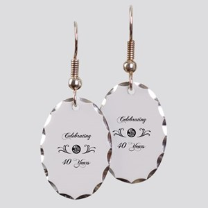 40th Anniversary (b&w) Earring Oval Charm