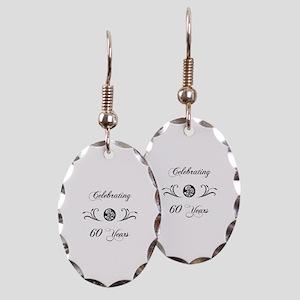 60th Anniversary (b&w) Earring Oval Charm