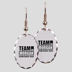 Team Morgan Earring Oval Charm