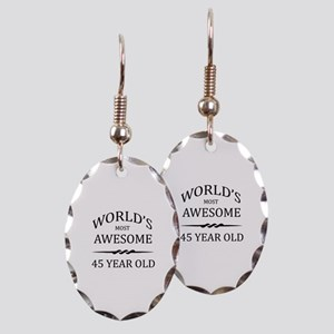 World's Most Awesome 45 Year Old Earring Oval Char