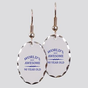 World's Most Awesome 90 Year Old Earring Oval Char