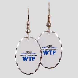 The Calendar Says WTF Earring Oval Charm