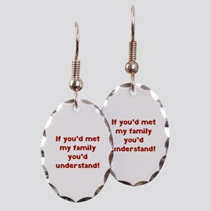 You'd Understand Earring Oval Charm