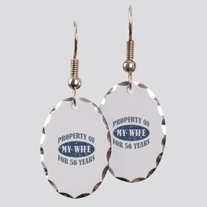 Funny 50th Anniversary Earring Oval Charm