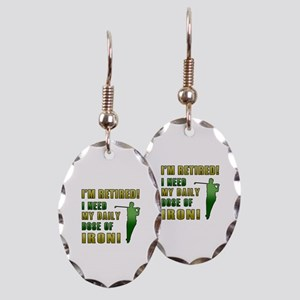 Funny Golfing Retirement Earring Oval Charm