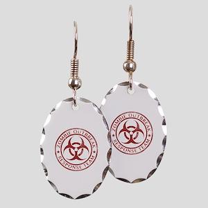 Zombie Outbreak Response Team Earring Oval Charm