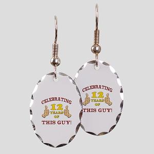Funny 12th Birthday For Boys Earring Oval Charm