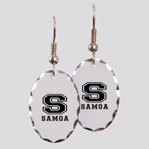 Samoa Designs Earring Oval Charm