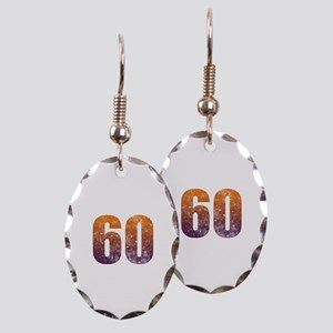 Cool 60th Birthday Earring Oval Charm