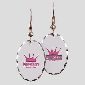 Custom Princess Earring Oval Charm
