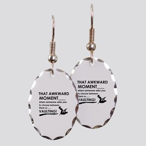 Awkward moment vaulting designs Earring Oval Charm