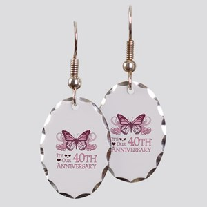 40th Wedding Aniversary (Butterfly) Earring Oval C