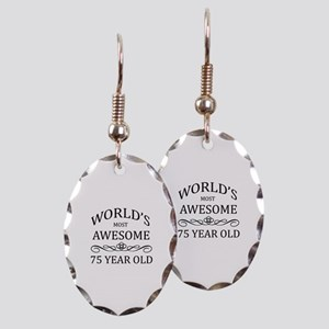 World's Most Awesome 75 Year Old Earring Oval Char