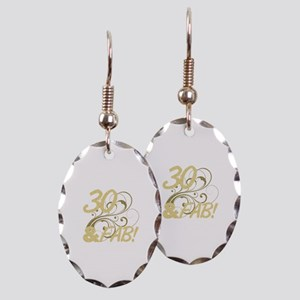 30 And Fabulous (Glitter) Earring Oval Charm