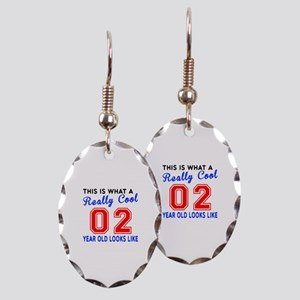 Really Cool 02 Birthday Designs Earring Oval Charm