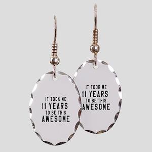 11 Years Birthday Designs Earring Oval Charm