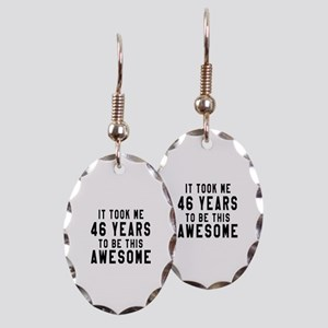 46 Years Birthday Designs Earring Oval Charm