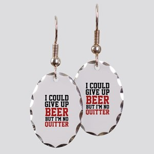 I Could Give Up Beer Earring Oval Charm