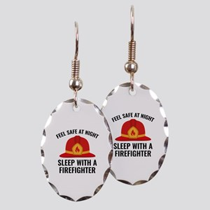 Sleep With A Firefighter Earring Oval Charm