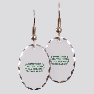 All You Need Earring Oval Charm