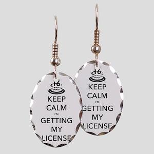 Keep Calm Sweet 16 Earring Oval Charm