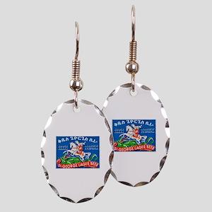 Ethiopia Beer Label 3 Earring Oval Charm