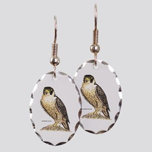 Peregrine Falcon Bird Earring Oval Charm