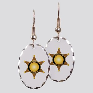 Sheriff's Department Badge Earring Oval Charm