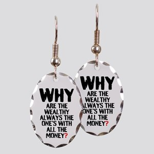 WHY ARE THE WEALTHY ALWAYS THE Earring Oval Charm