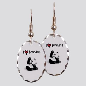 Baby Panda Earring Oval Charm