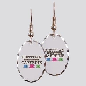 Dietitian Powered by Caffeine Earring Oval Charm
