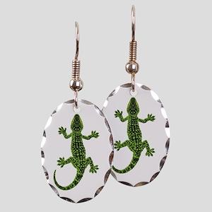 Gecko Earring Oval Charm