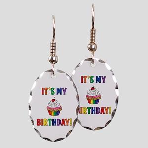 It's My Birthday! Earring Oval Charm