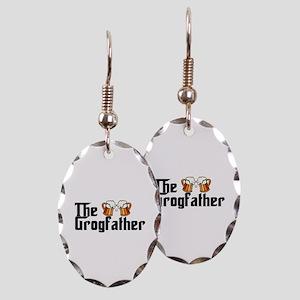 The Grogfather Earring Oval Charm
