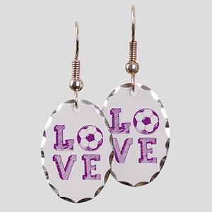 Girly Love Soccer Earring Oval Charm