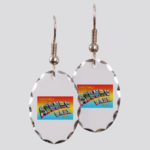 Asbury Park New Jersey Earring Oval Charm