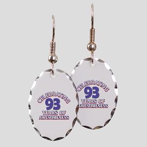 Celebrating 93 Years Earring Oval Charm