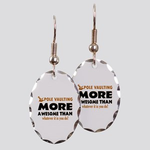 Awesome Polevault designs Earring Oval Charm